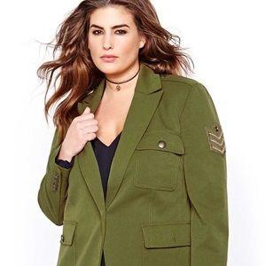 Rachel Roy plus Military Jacket size 14